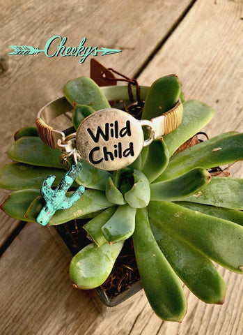 Wild Child Silver and Patina Bracelet