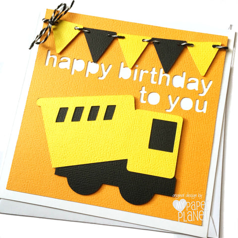 Construction Truck Birthday Card