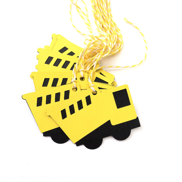 Construction Truck Gift Tags