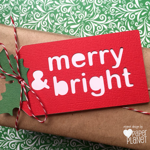 merry & bright Christmas gift tags.