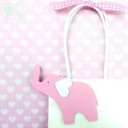 Elephant Gift Tags Pink
