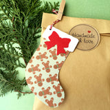Christmas Stocking Gingerbread Man gift tags.