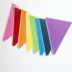 Rainbow Pennant Party Banner
