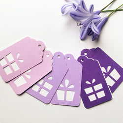 Present Gift Tags Purple Ombre