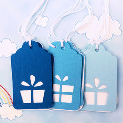 Present Gift Tags Blue Ombre