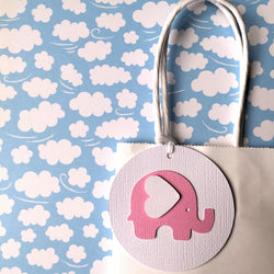 Elephant Baby Gift Tags - Pink