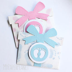 Gift Card Holder - Baby Feet Pink or Blue