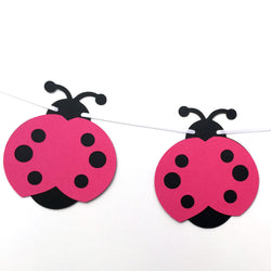 Ladybug Garland Pink and Black