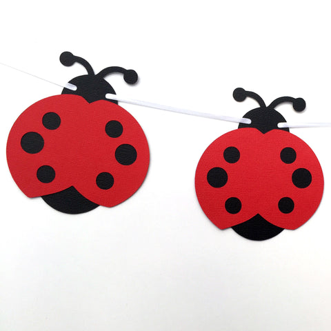 Ladybug Garland Red and Black