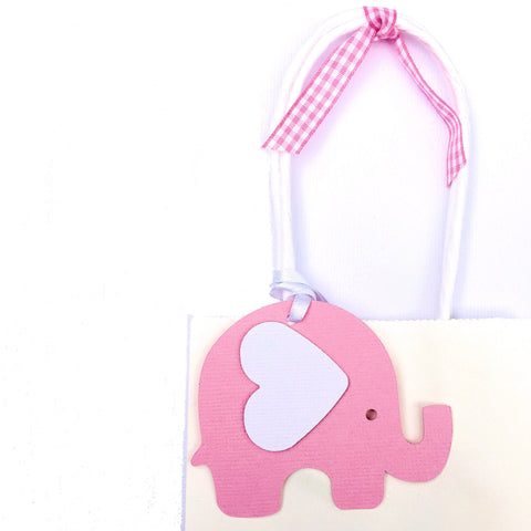 Elephant Gift Tags in Pink