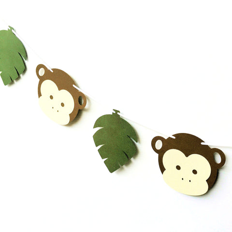 Monkey Jungle Leaf Banner