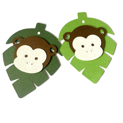 Monkey Jungle Leaf Gift Tags