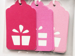 Present Gift Tags Pink Ombre
