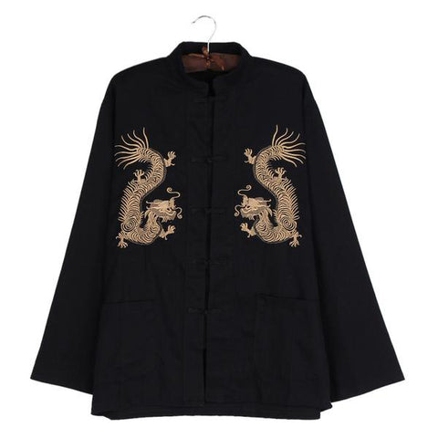 Golden Vision Embroidered Manchu Shirt
