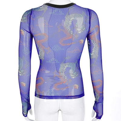 Dragon Mesh Long Sleeve