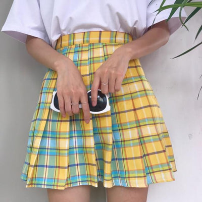 Pastel Feelings Checkered Skirt (2 Colors)