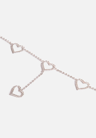 Bling Heart Chain Belt