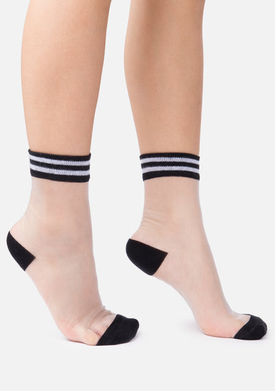 Contrast See Thru Socks