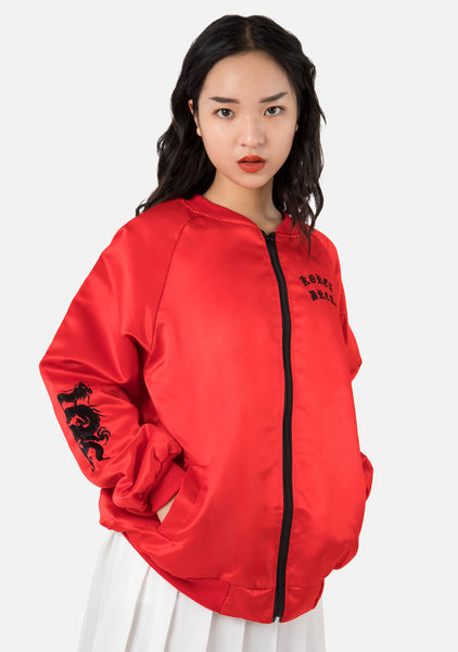Inferno Embroidered Oversized Jacket (2 Colors)