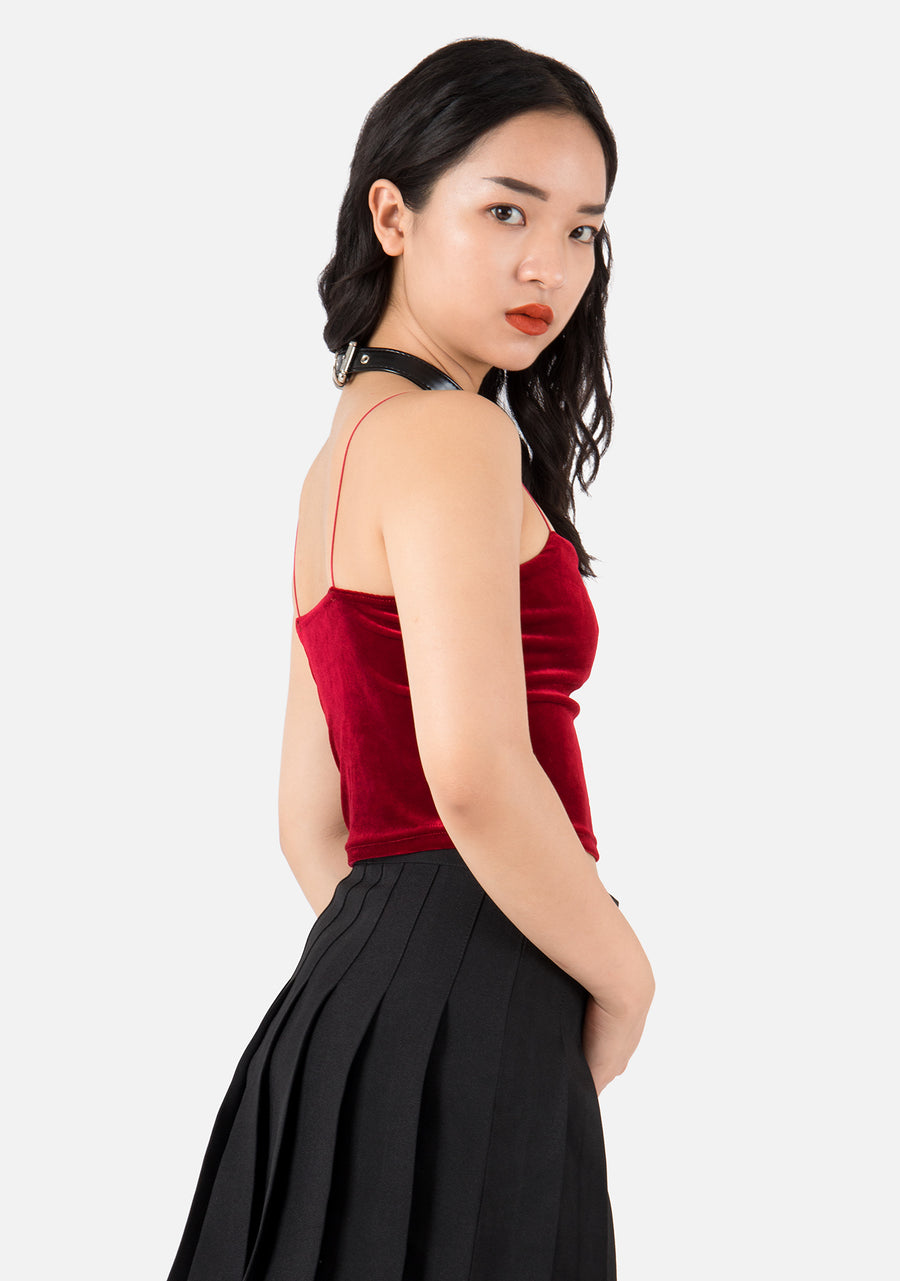 Valerie Velvet Crop Top (4 Colors)