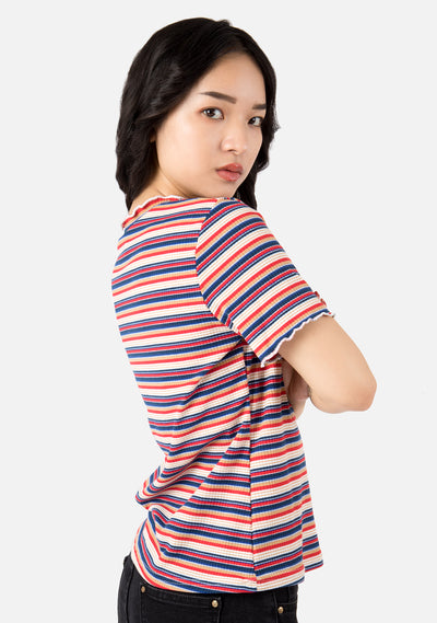 Ecstacy Rainbow Striped Top