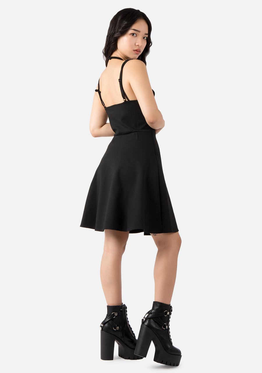 Hollow Life Harness Mini Dress