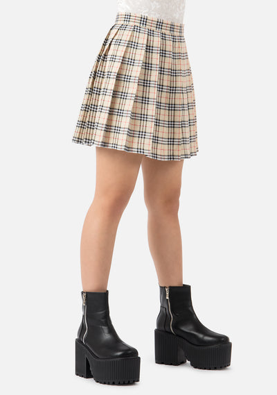 Bambi High Waisted Pleated Skirt (4 Colors)