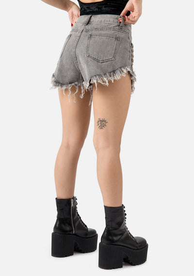 Mischief Exxtra Frayed Shorts (2 Colors)
