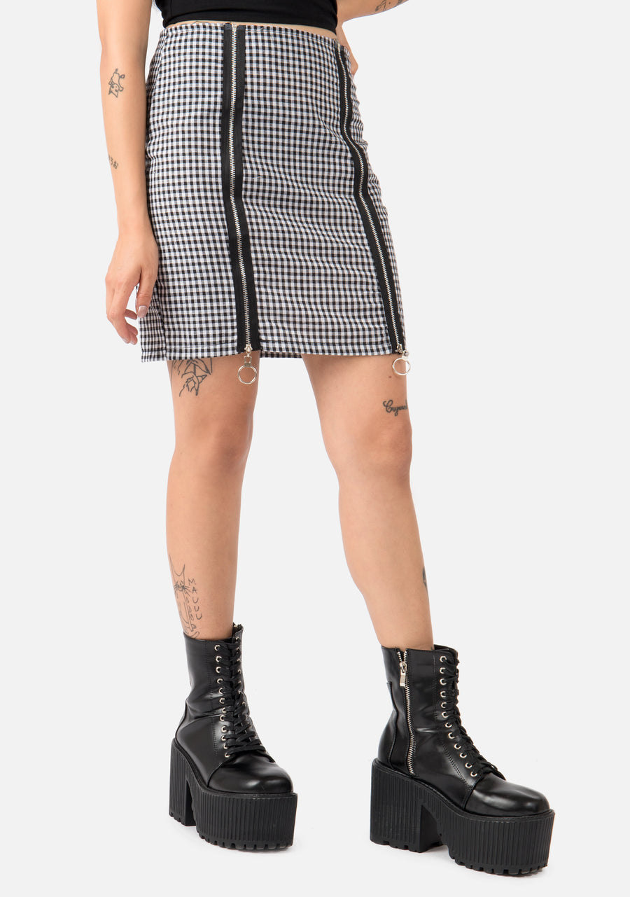 Creeper Double Zip Skirt