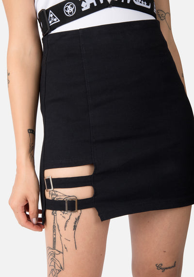Dislocate Irregular Pencil Skirt