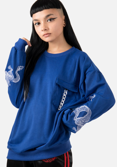 Firebreather Loose Embroidered Longsleeve (2 Colors)