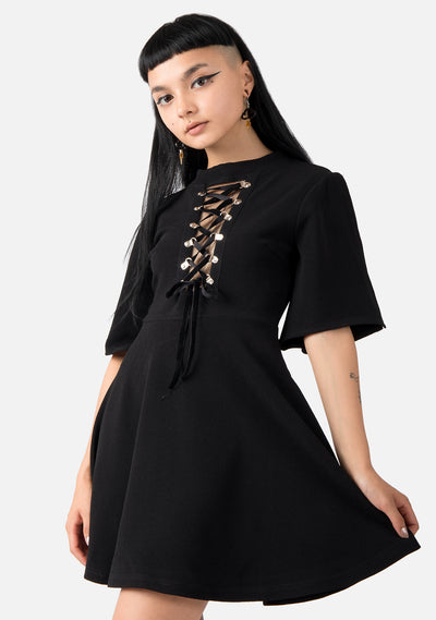 Enchantress Lace Up Dress