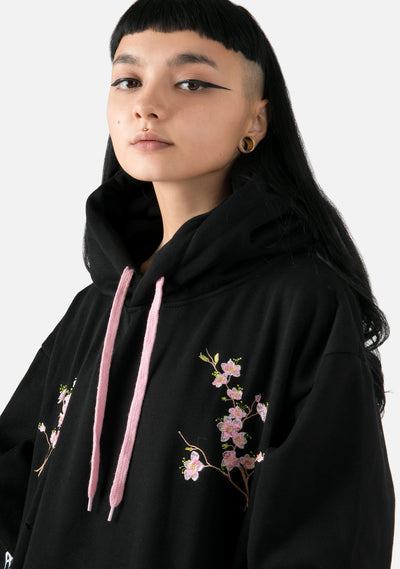 Floral Fever Embroidered Hoodie (2 Colors)