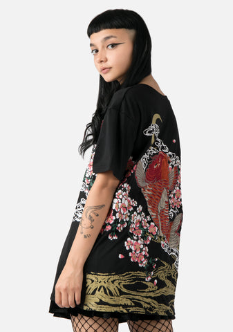 Irezumi Embroidered Oversized T-Shirt