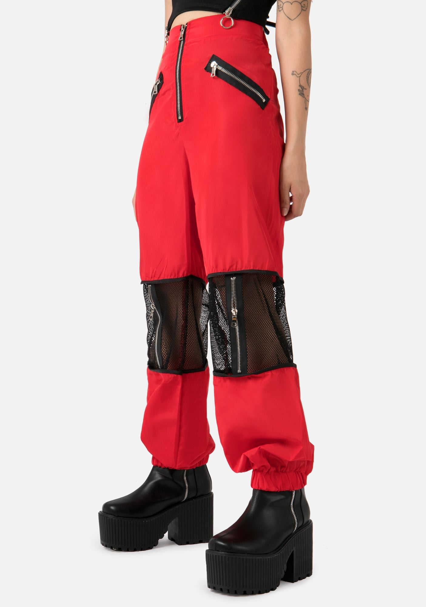 Bitter Red Mesh Pants