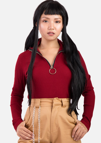 Delicacy High Neck Pullover (2 Colors)