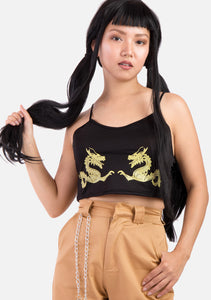 Yellow Dragon Crop Top