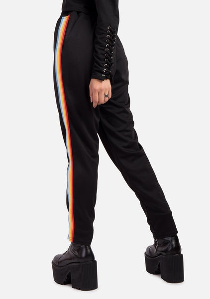 Runaway Rainbow Stripe Sweatpants