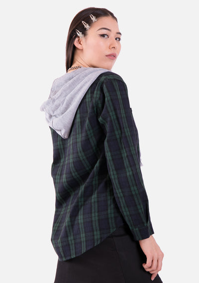 Mashup Plaid Sweatshirt