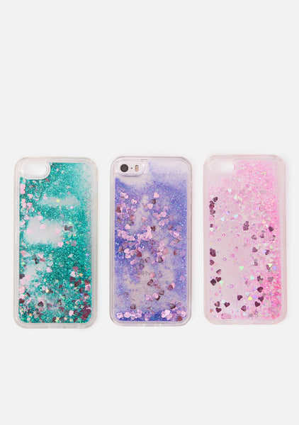 Liquid Love Glitter Phone Case (3 Colors)