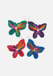 Rainbow Butterfly Earrings (4 Colors)