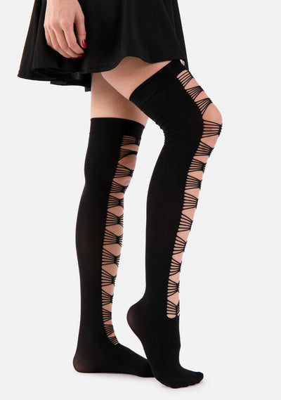 Sneak Peek Thigh High Socks