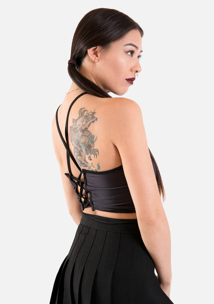 Moon Phase Wrap Halter Top