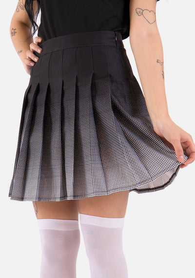 Fade Out High Waisted Pleated Skirt