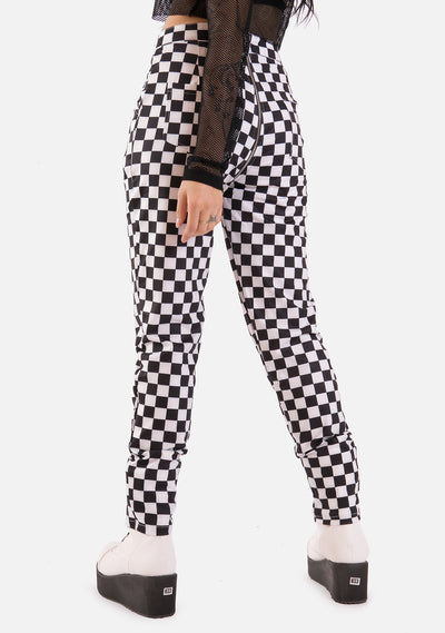 2 Minds Checkered Pants