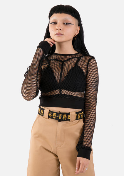 Denial Fishnet Top