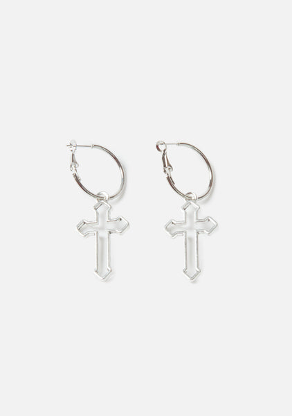 Hollow Cross Earrings