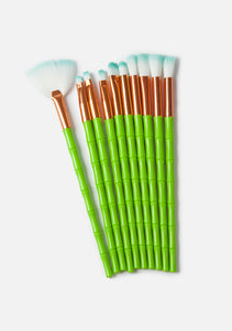 Neon Alien Makeup Brushes