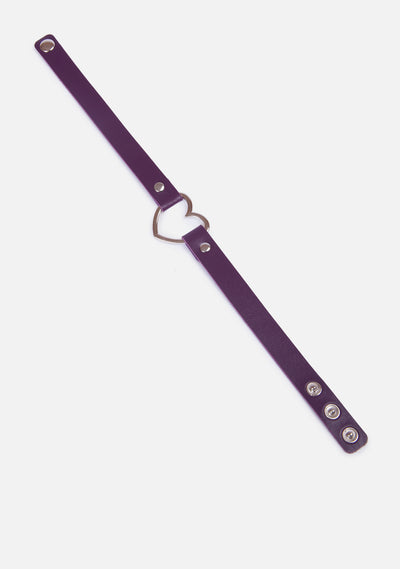 Heart Throb Vegan Leather Choker (4 Colors)