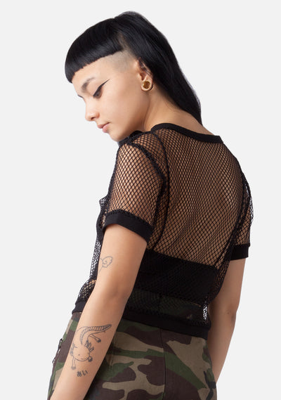 Error Fishnet Top